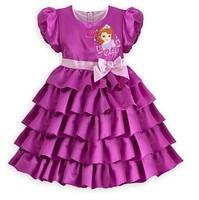 Free shipping children dress Princess Sophia girl baby dress