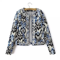 New Winter 2014 Women's Beading Print Down jacket Coats Cotton Padded Parka Clothes