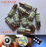 4 x hot selling 18 SMD 1156 BA15S P21W Reverse Turn Signal Brake Parking Day Running LED 5050 Lighting Bulb 12V BAY15D BA15D