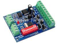 6CH easy dmx constant voltage decoder,DC5-24V input;6A*4channel output;L72*W55*H15mm