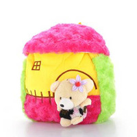Factory outlets, children's schoolbag cartoon baby backpack, Bear plush toys, free shipping!