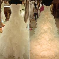 2014 wedding fashion wedding dress tube top train wedding dress bridal dress