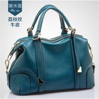 Women's fashion handbag genuine leather formal one shoulder cross-body bags