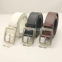2014 South Korea New fashion brand Men Pin buckle PU leather belt,Men's Lady wide belts Leisure female joker belts Free shipping