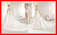 Custom Made Free Shipping New 2014 Sexy Sweetheart Long Lace Girls Formal Romantic Cheap China Made Wedding Party Dress Gowns