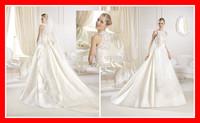 Custom Made Hot Sale Free Shipping 2014 Sexy Long Lace Girls Zipper Back Court Train Girls Formal China Made Wedding Dress Gown