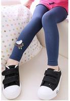 2014 children's autumn pants Girl's legging embroidered female child 100% cotton legging