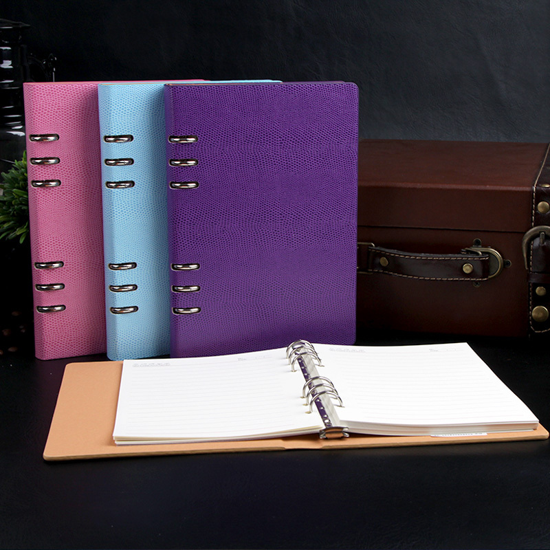 The leather loose-leaf notepad, office stationery notebook, commercial loose leaf notepad,gift box,binder(China (Mainland))