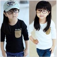 Children's  autumn clothing new arrival Cheapest Unisex T-shirt hot-selling kid's basic shirt casual shirt long-sleeve T-shirt