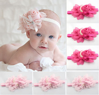princess Fashion young Baby Girl Flower Hairband Headbands for Kid's Hair Accessories hairband