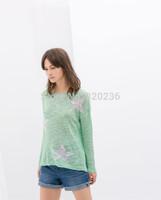 Women Sweater Free shipping  2014  girls  Five-pointed Star Pattern Pullover knitwear Womens cardigan Ladies Sweater coat