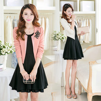 Free Shipping 2014 Autumn Women's 1358 Twinset Skirt Suits