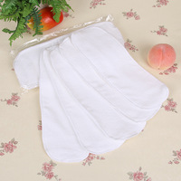Free shipping 10pcs Washable reuseable Baby Cloth Diapers Nappy inserts microfiber 2&3 layers