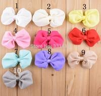 Free Shipping 40pcs/lot 2014 new ribbon Bowknot  flower accessory for baby girl headbands infant hairband DIY hair accessory