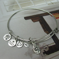 Alex and Ani Silver Plated Alloy Charm Bracelets and Bangles for girls Free Shipping