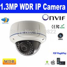 ONVIF WDR 960P 1.3MP 2.8-12mm Varifocal Lens  IP Dome Camera Vandal-proof Support Smartphone view P2P  IR-CUT IR Distance 30M