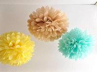 14 inch 35cm 40 pcs/lot Tissue paper  Pom Poms  Wedding / Bridal / Baby Shower / Birthday  Outdoor Xmas Decoration