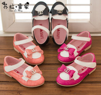 free shipping new style children fashion Letters bow Princess Shoes baby shoes