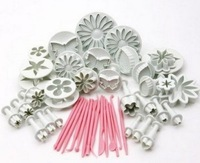 factory  retail 11 sets 47pcs mixed fondant plunger cutters and tools for fondant cake decoration
