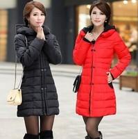 2014 New Fashion Winter Simple Cotton Duvet Tide Stitching Korean Girls Long Paragraph Slim Tide Cotton Women BZY15