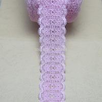 10 yards/lot 40mm width pink Elastic Stretch Lace trim DIY headband sewing/garment accessories