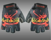Summer fitness sports  bicycle mountain bike short semi-finger ride  shock absorption gloves