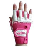 Female fitness sports  gym half finger gloves sports  weightlifting dumbbell exercise wrist brace skid for women girls