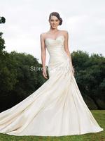 2014 Vestido Vestidos De Novia Sweetheart Up Mermaid New Arrival Wedding Dress Heart Sexy Tube Top Slim Train Bride Gownbridalk