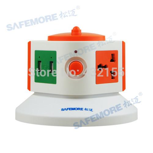 European Plug Electrical Extension Socket 110-250V 10-15A EU Standard Power Socket With 5V 2.1 USB Ports(China (Mainland))