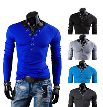 специальное предложение 2014 новые люди slim fit свитера пуловеры v- шея кардиган иден парк вскользь поло долго рубашки, мужские одежды