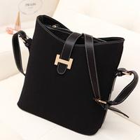 2014 new arrival fashion preppy style scrub bucket bag messenger bag women's bags valentine bags