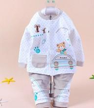 Baby andBabyLong Sleeve Pajamas toddler Kids Sleepwear suit cartoon design underwear baby pajamas(China (Mainland))