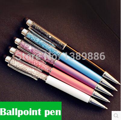 5 pcs/Lot Crystal pen Diamond ballpoint pens Stationery ballpen caneta Novelty gift zakka Office material school supplies(China (Mainland))