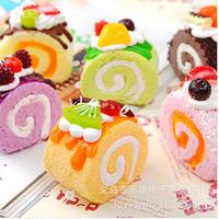 wholesale 10pcs/lot The simulation fruit cream cakes widgets  lanyards no minimum Food soft bread charms