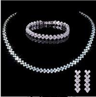 Luxury Part Jewellery  Top Quality  necklace& earrings &bracelet  jewellery   set