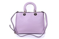 New Genuine Leather Soft Fashion Handbag For Girls ChaceChic Lavander Women Calf Leather Diorissimo Tote Free Shipping