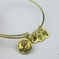 """Alex and Ani style Bnagles  letter """"d"""" Bar Silver Plated Alloy Charm Bracelets and Bangles Free Shipping"""