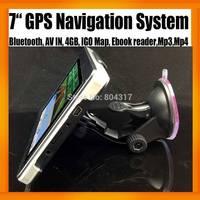 China Car GPS Navigation System 7inch +Bluetooth+AV IN+4GB TF Card + Free World Map FMT MP3 MP4