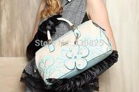 FREE SHIPPING Exquisite diamond of the bright hundred flowers pillow horizontal portable women's handbag messenger bag