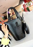 2014 Women's Drum Bag Drawstring Shoulder Handbag With Cute Rabbit Bag Free Shipping XBG036