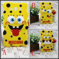 Cartoon SpongeBob SquarePants High Quality Soft Silicone Case For Samsung Galaxy S3 i9300
