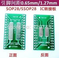 SOP 28 /ssop28/tssop28  transfer PCB board adapter