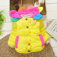 2014duck girls winter warm jacket kids girls outwear baby girls lovely animal ducky coats sweaters 2014 KT506R