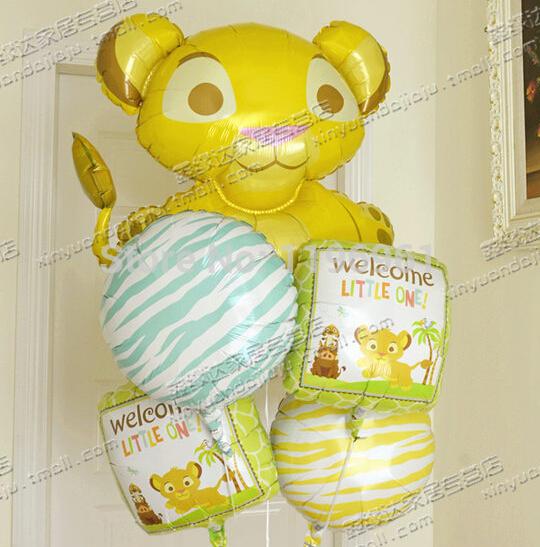 Bouquet Balão Foil Rei Leão Baby Shower recém-nascido Partido(China (Mainland))