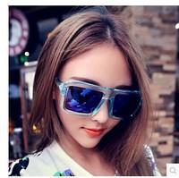 2014 square street fashion trend of the vintage sunglasses big box sunglasses mercury reflective sunglasses women's sunglasses