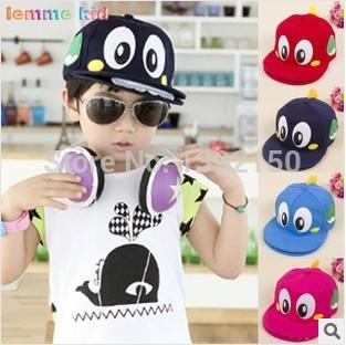 Four seasons Children's sun hat child Outdoor Leisure Dinosaurs Baseball cap Hip-hop hat Korean version of the hat Wholesale(China (Mainland))