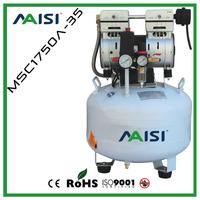 Hot Sell 120L/min 8 bar 1HP/750W 35L Tank Oil-Free Air Compressor