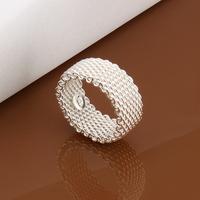 Hot Sale 925 Silver Ring Fine Fashion Net Ring Women&Men Gift Silver Jewelry Finger Rings LKNSPCR040