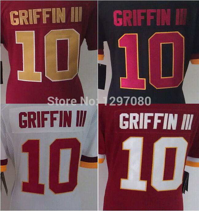 Free Shipping Women Football Jersey #10 Robert Griffin III 98 Orakpo 91 Kerrigan 59 Fletcher 46 Morris 16 Banks Jersey Mix order(China (Mainland))