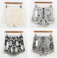 Hot Sale Korean Fashion Womens Sweet Cute Crochet Tiered Lace Mini Skirt Pants 2014 women shorts Dropshipping